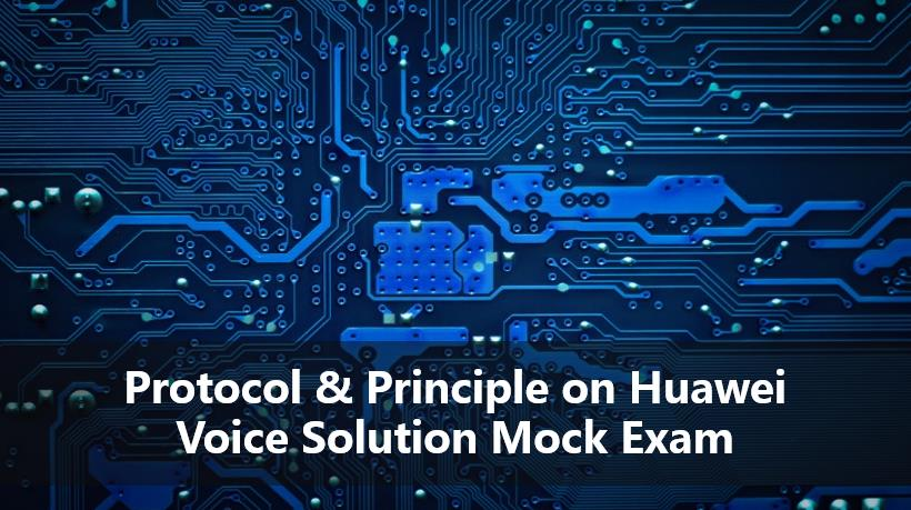 Protocol & Principle on Huawei Voice Solution Mock Exam