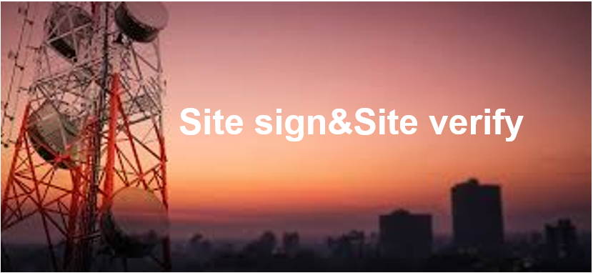 Site sign&Site verify ISDPENMD004